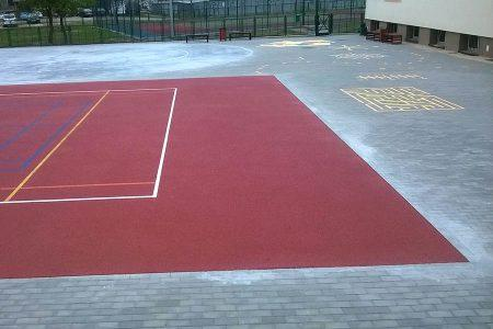 school playfield in Toruń